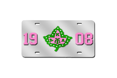 Alpha Phi Alpha And Alpha Kappa Alpha License Plates