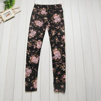 Flower See through Leggings (Black)