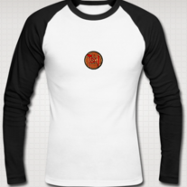 TSAI LOGO Raglan Shirt for Men (Black/White)