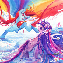 Twilight Sparkle and Rainbow Dash 11x14