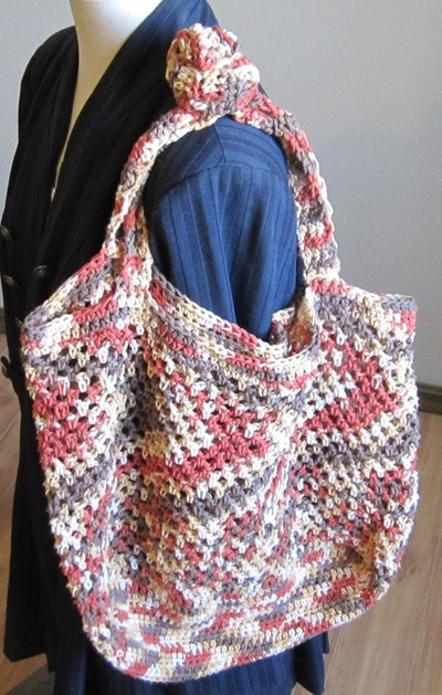 Crochet Market Bag/Tote Bag Made with 100% Cotton Yarn ...