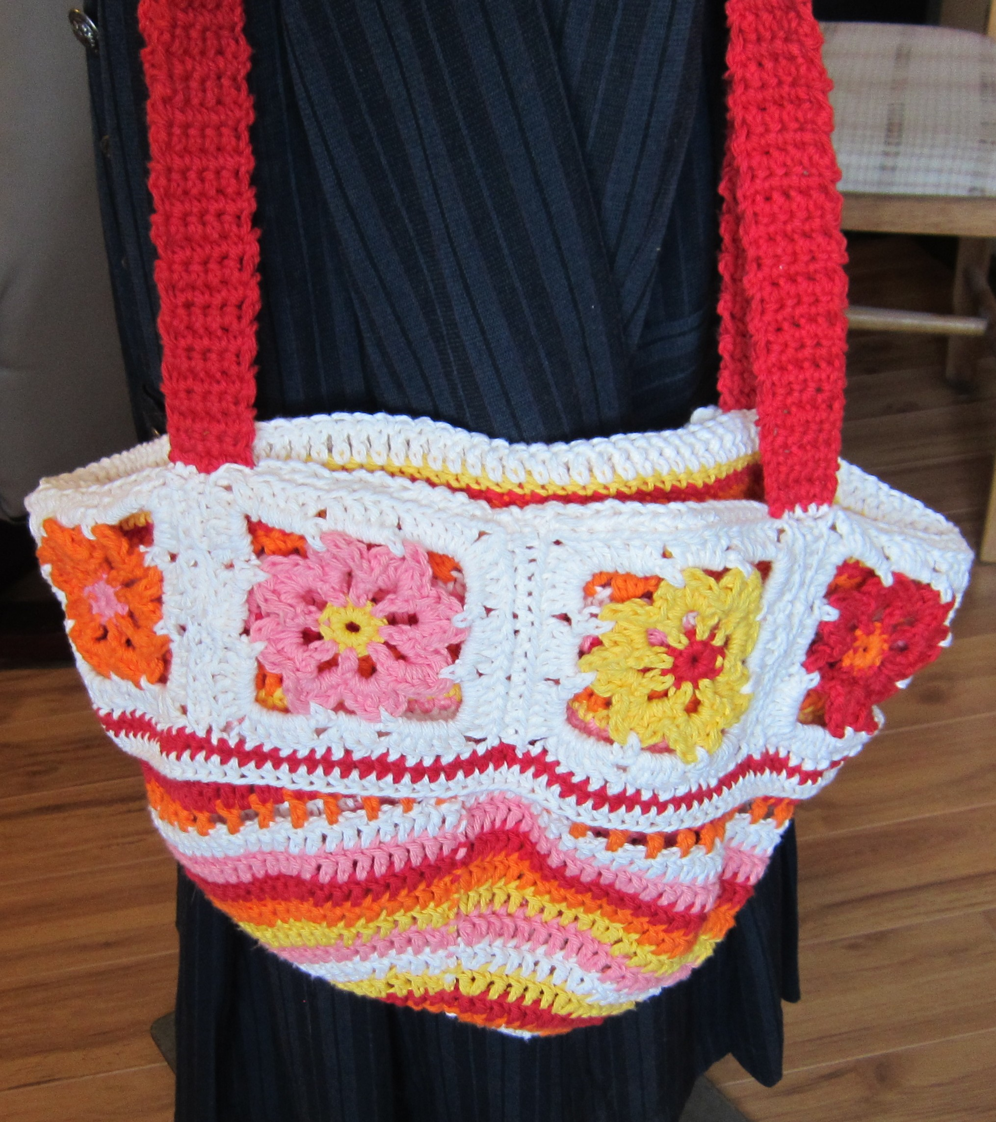 Beautiful Crochet Bags : Crochet Flower Purse/Tote Beautiful Colors with Pretty Spring/Summer ...