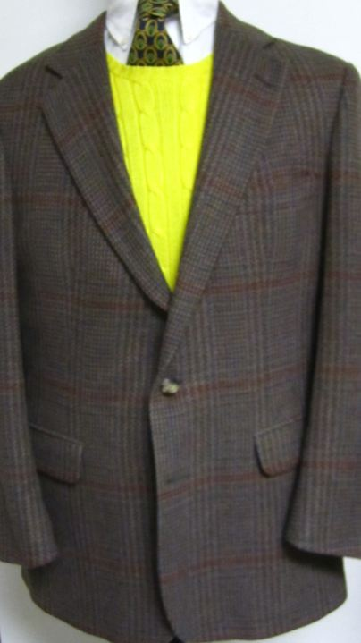 Bill Blass Plaid Tweed Sport Coat 42r On Storenvy