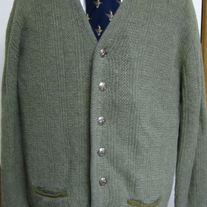 Puritan Vintage Wool Cardigan - Large Long
