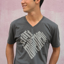 """Start the Movement"" - Unisex Gray V Neck"