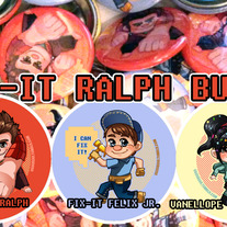 Wreck-It Ralph (button set)