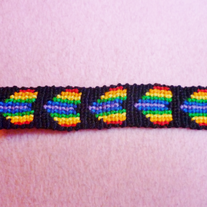 Rainbow Hearts Braided Friendship Bracelet