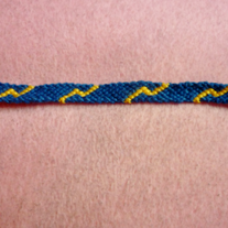 Blue Lightning Braided Friendship Bracelet
