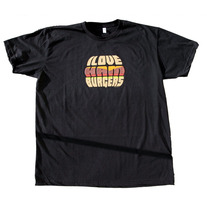 I Love Hamburgers Black T-Shirt