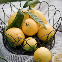 Photo Prints- Meyer Lemons in Basket