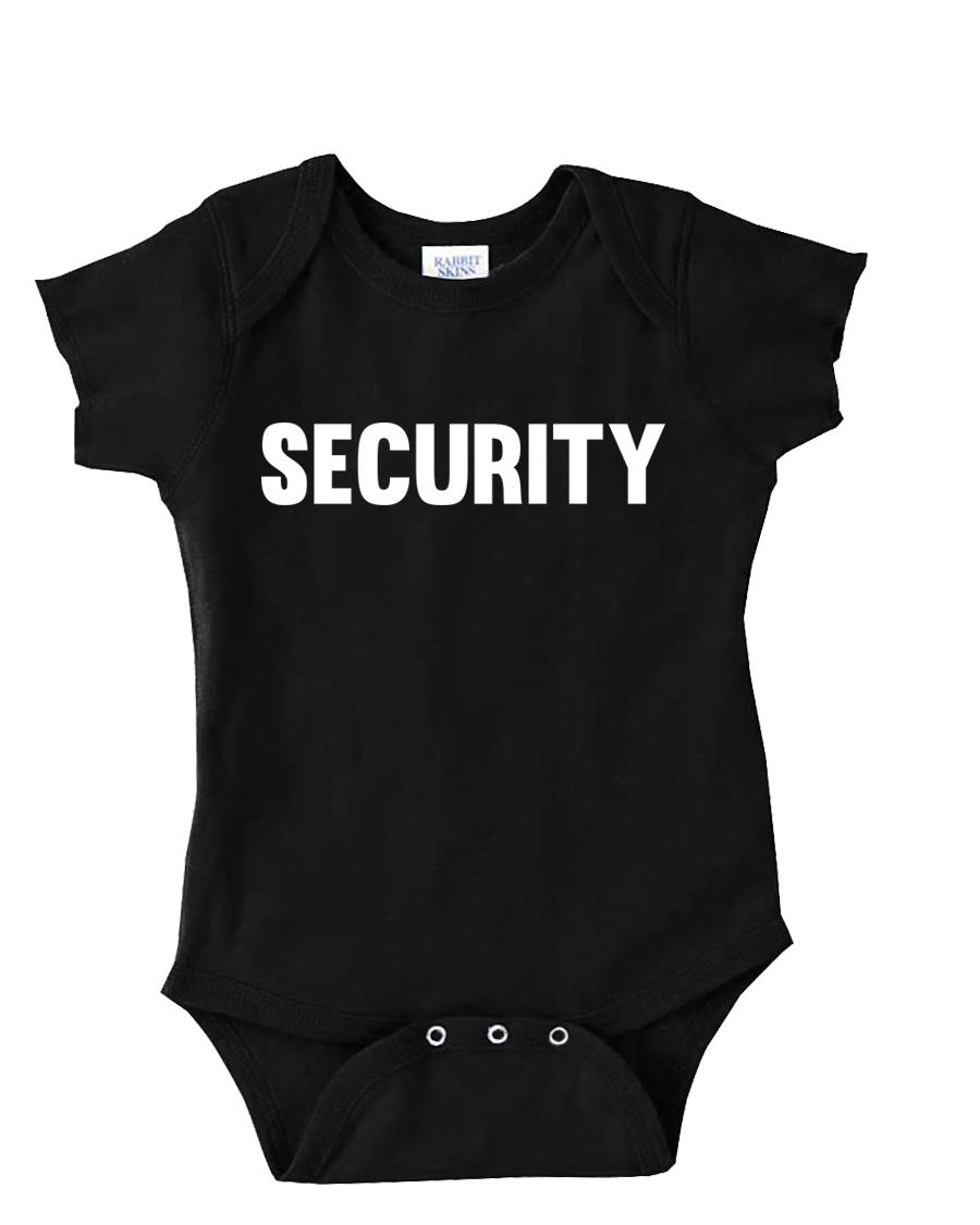 d4346a5727ed SECURITY COSTUME ONESIE FUNNY BABY ONESIE CUTE BABY STUFF BABY ...