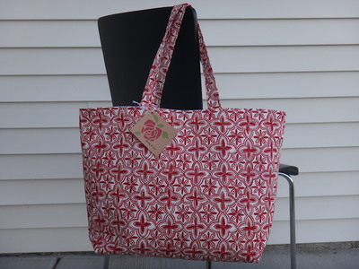 Shopping Bag Tote Red