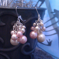 Pinky Cluster Earrings