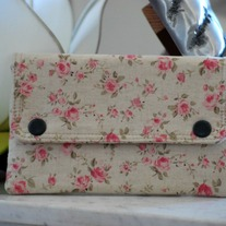Double Snap Wallet - Linen Rose