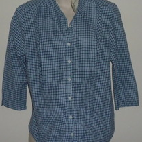 Blue Plaid Nursing Top-NEW-Motherhood Size XL