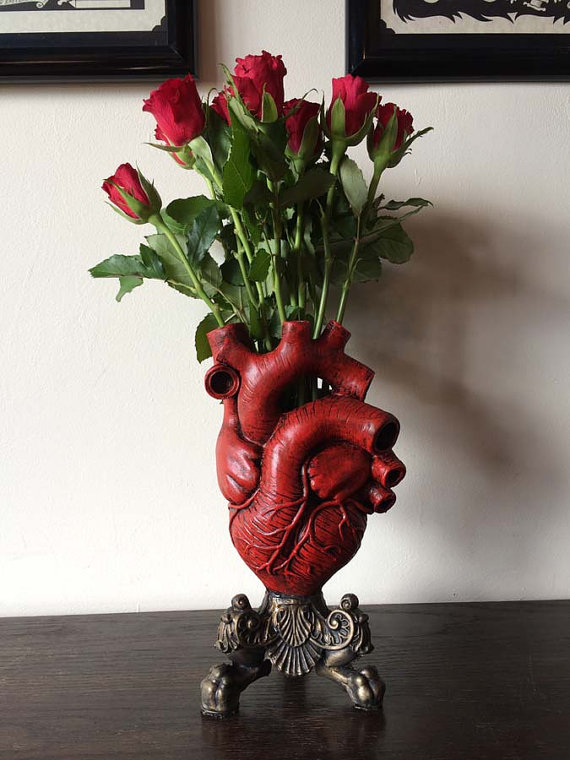 Red Anatomical Heart Vase Lesquelet Online Store Powered By