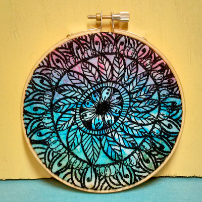 Mandala Hoop Art (OOAK)