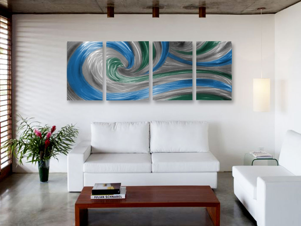 Spring Crest- Metal Wall Art Abstract Contemporary Modern Decor ...