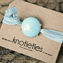 knotie bubble original - aqua w/gold