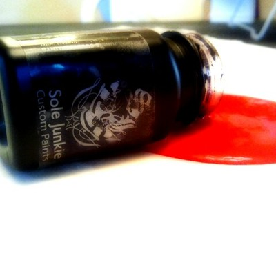 2oz  sole junkie acrylic sneaker shoe paint-infra red