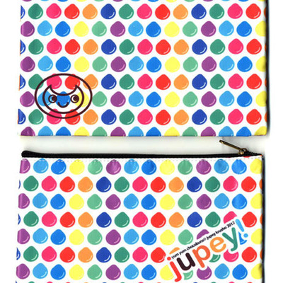 Rainbow drops pouch by jupey krusho