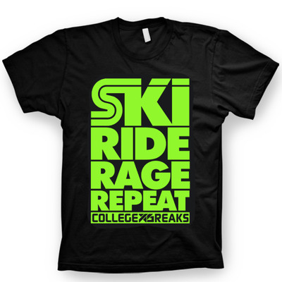 Collegexbreaks - short sleeve - black & neon green