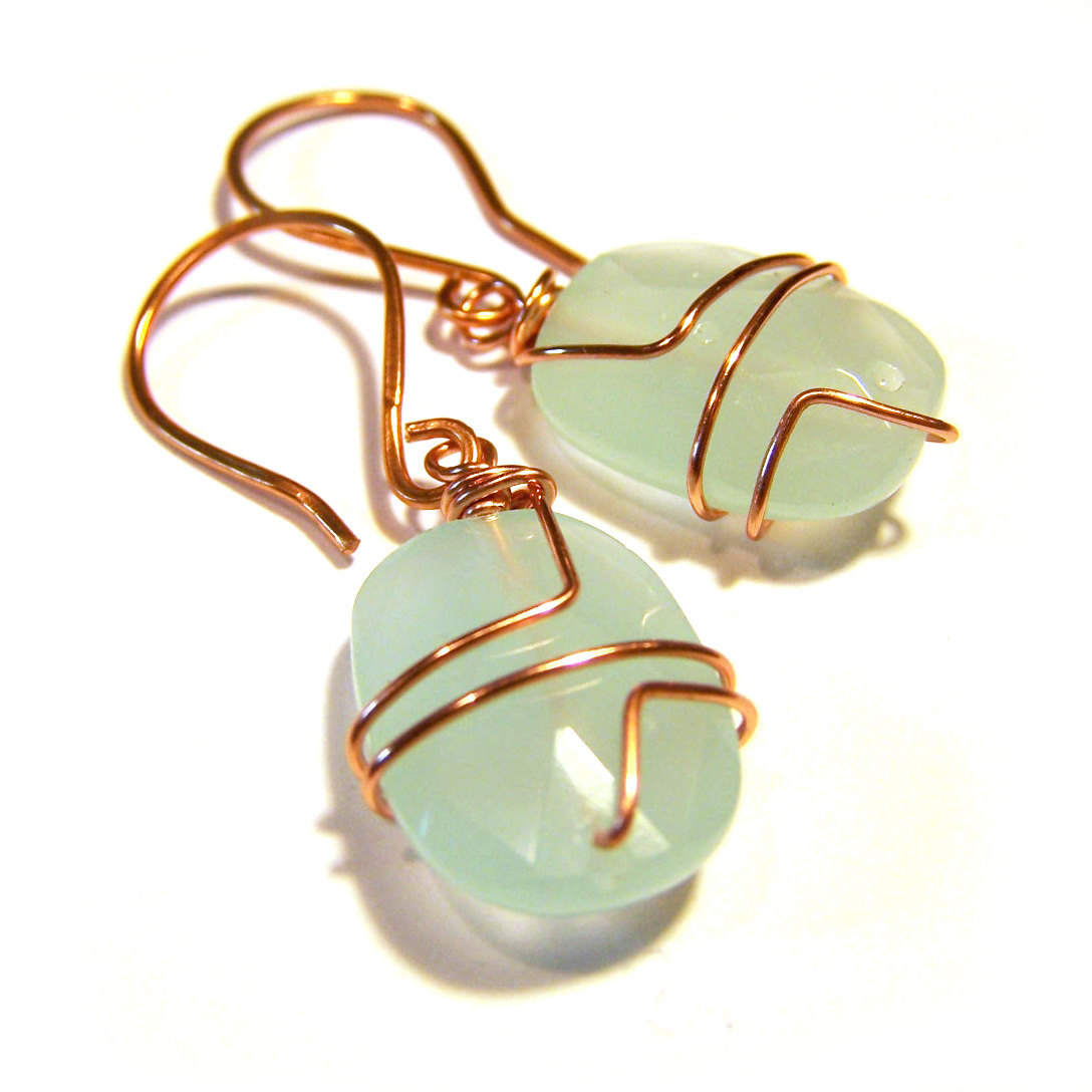 Fine Love The Ocean Crystal Glass Bead Wire Wrapped Copper Dangle Wiring Digital Resources Caliashwinbiharinl
