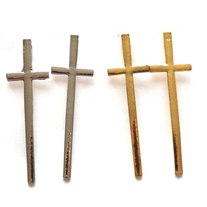 Tall Cross Earrings