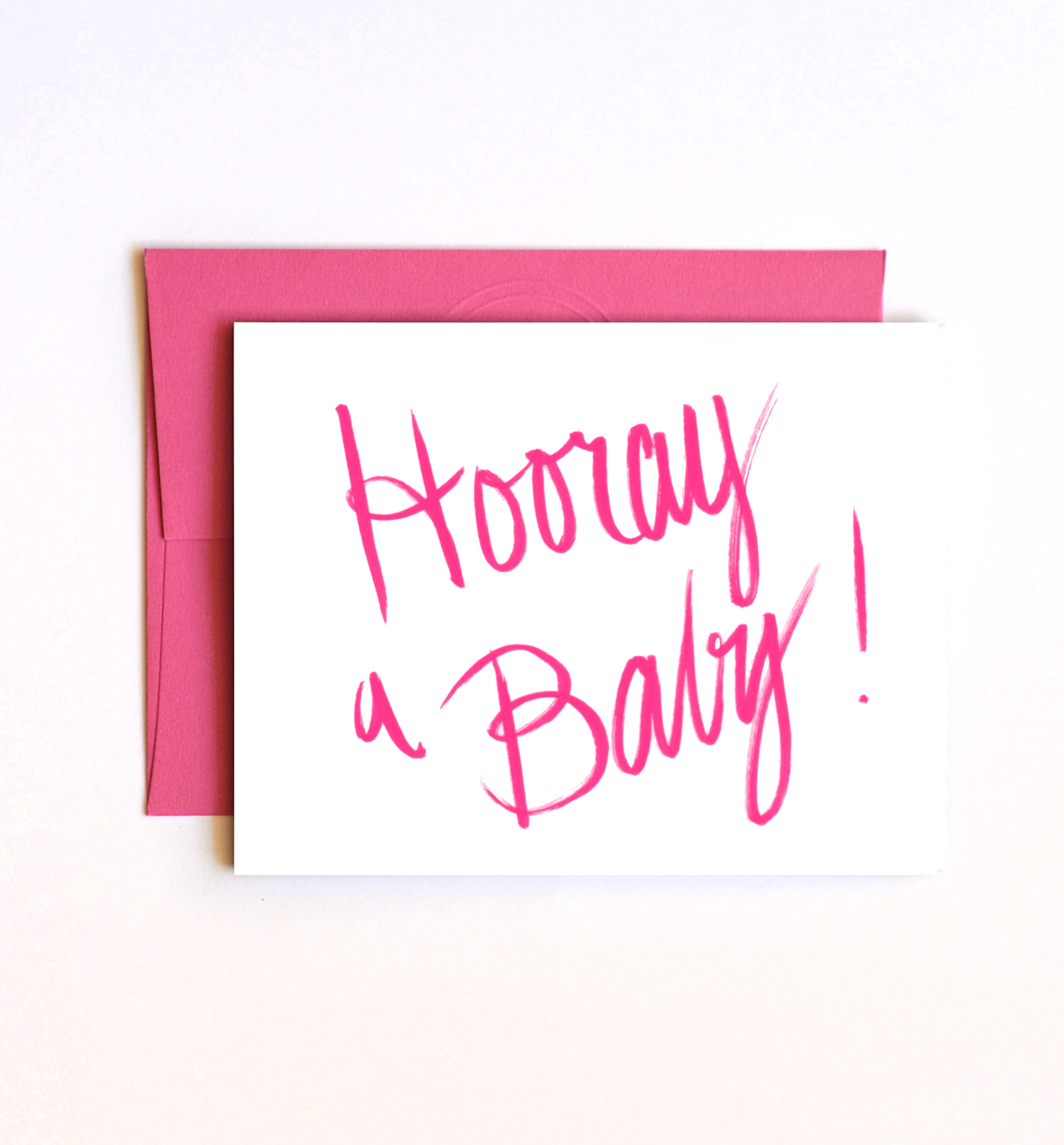 Hooray a Baby Announcement Card Baby Congratulations Baby – Baby Gender Announcement Cards