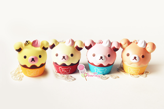 Squishy Cupcake : Rilakkuma Squishy in a Cupcake - and friends ? Uber Tiny ? Online Store Powered by Storenvy