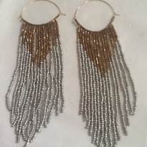 Metallic Dangle Earrings