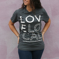 """Love Local"" - Unisex Gray Crewneck"