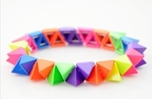 Colorful Neon Spikes bracelet