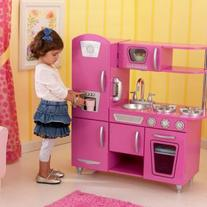 KidKraft Bubblegum Pink Vintage Kitchen