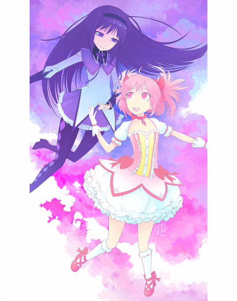 ... Art | Madoka and Homura Prints | Online Store Powered by Storenvy: okart.storenvy.com/products/7845069-madoka-and-homura-prints