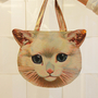 Cat Face Tote Bag Shopper  - Thumbnail 2