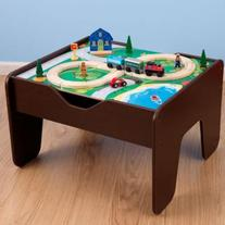 KidKraft 2 in 1 Activity Table with Board- Espresso