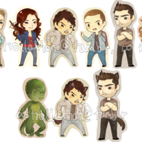 Teen Wolf Keychains set