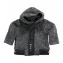 3 Pommes Ultra Soft Fur Like Jacquard Knit Hoodie
