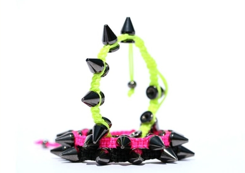 Black with Black Spikes Bracelet