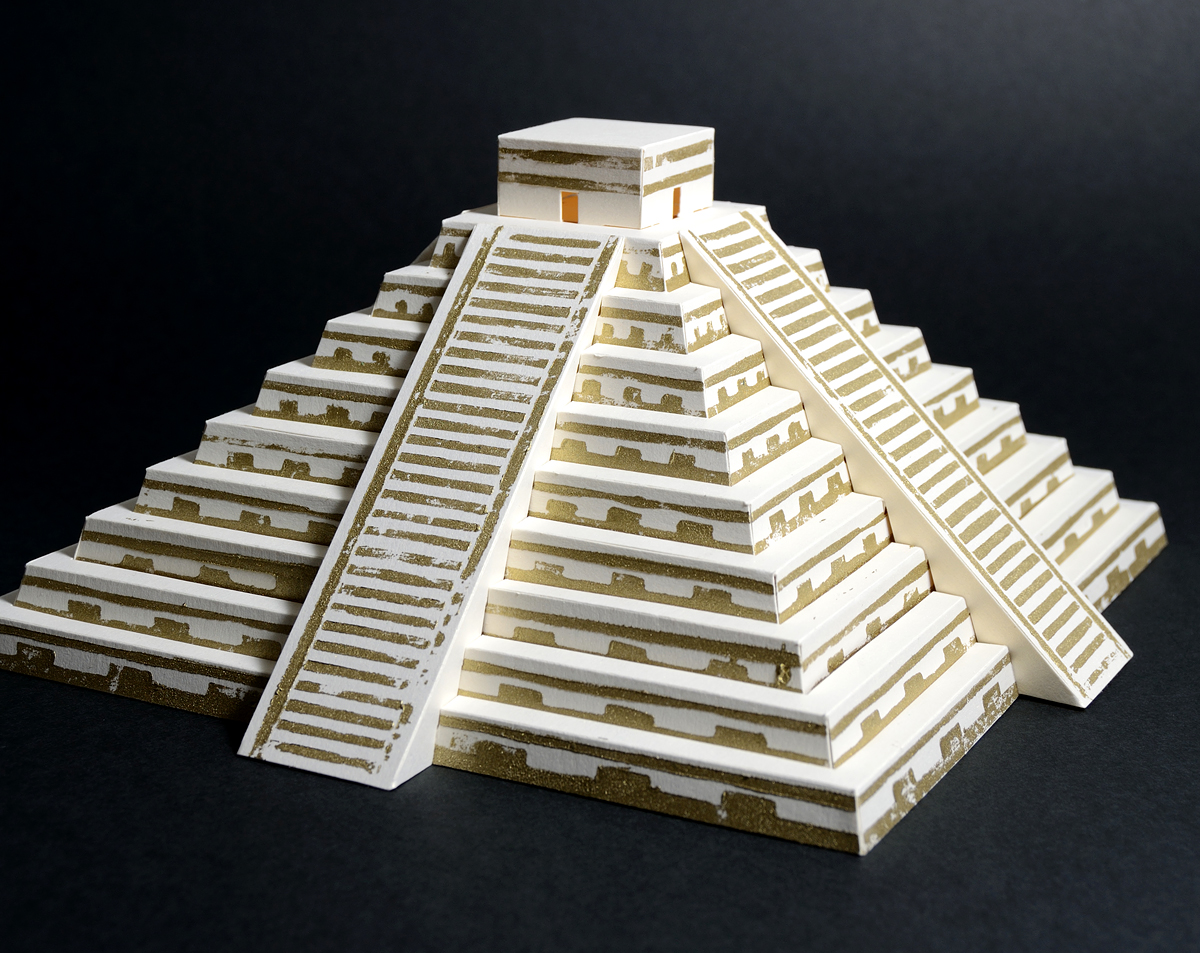 Mayan Pyramid Paper Model Craft Kit 183 Paperlandmarks