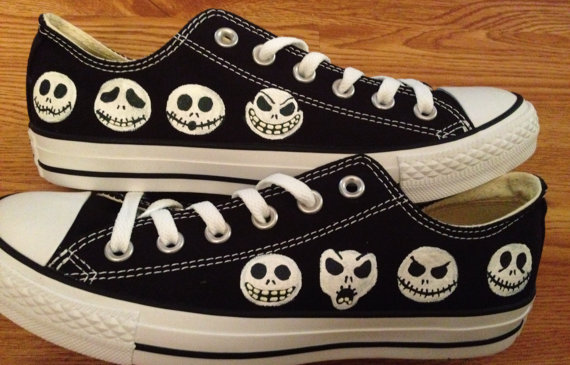 Nightmare Before Christmas Hand Painted Converse Shoes · Candy's ...