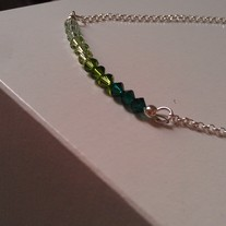 Forest Green Swarovski Necklace