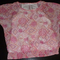Pink Sheer Top with Built in Cami-Justice Size 12