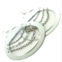 Handcuff Earrings Silver