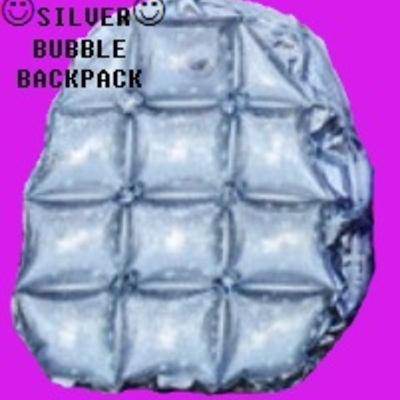 Silver glittery bubble backpack