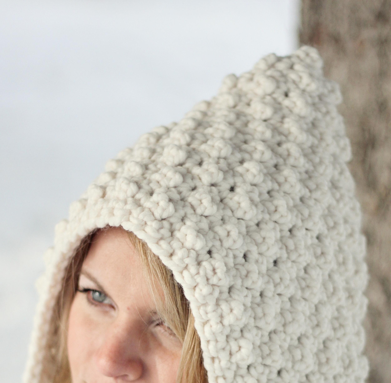 Crochet Hoodie Hat Free Pattern : CROCHET PATTERN Hoodie Hat Oversized HOOD The Denver ...