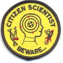Beware ... Citizen Scientist Embroidered Patch medium photo