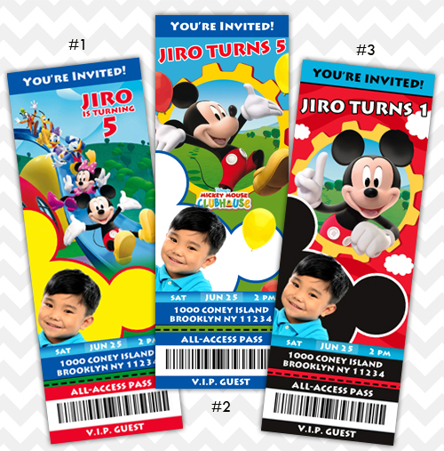 Mickey Mouse Clubhouse Invitations on Storenvy