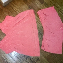 Gilligan Neon Orange Tank and Shorts Set XL